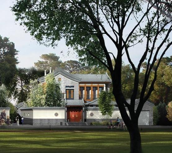 四合院别墅外观设计效果图2