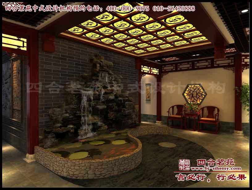 怀化国医馆(养生馆)中式装修效果图