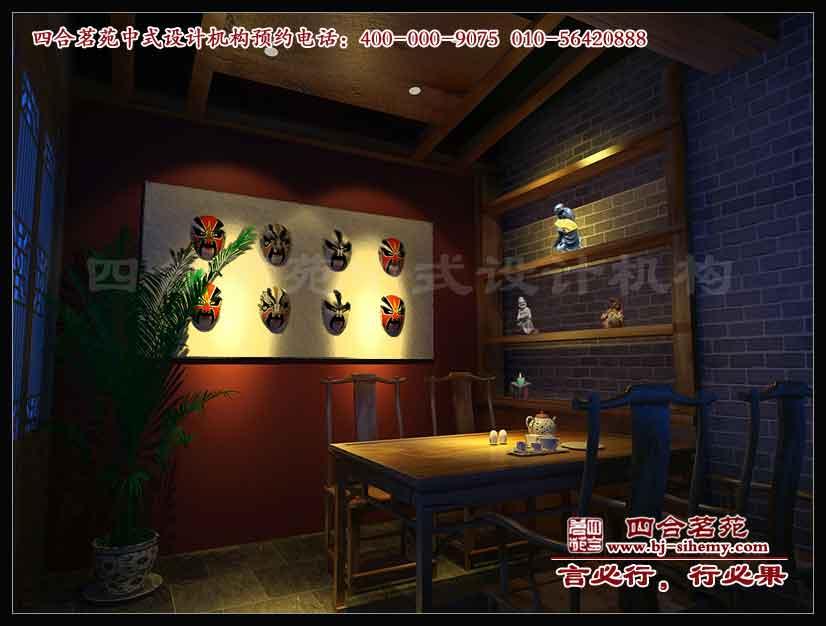中式茶楼装修 三余茶舍大厅效果图高清图片