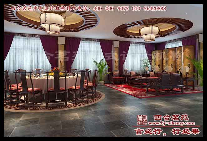 华阴中式酒店装修效果图之二层包间部分