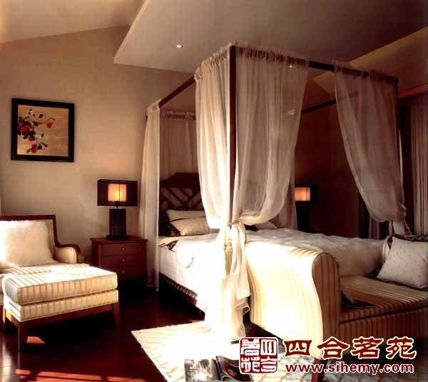中式卧室架子床装修效果图