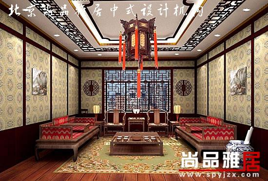 餐厅 龙王山庄茶楼装修效果图   中式茶楼包间设计素材   中
