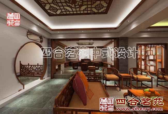 这是一套简约 中式风格的饭店设计,简约中体现 中式装修的