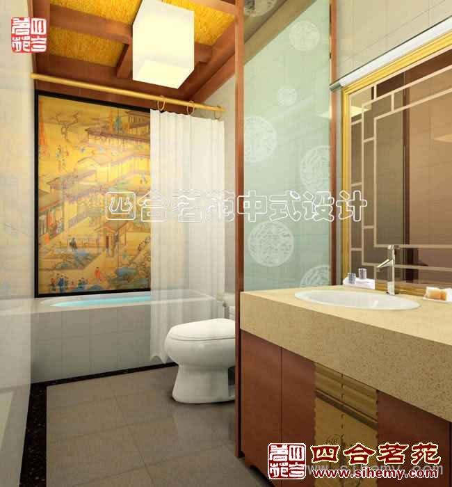 复古中式会所设计 - 卫生间