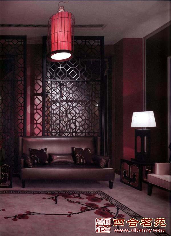 中式床木纹贴图