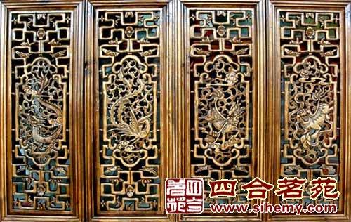 菱花纹图案是宫殿,坛庙,寺院建筑中常见的格心构成式样,这用