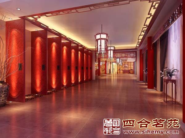 福建莆田仙游协立红木家具精品会所_中式红木展厅装修