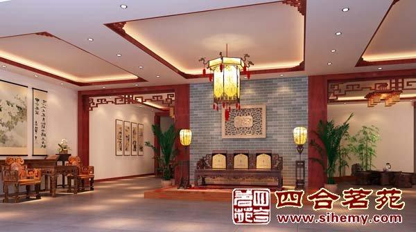 供应四合茗苑中式装修福建莆田仙游协立红木家具展厅设计