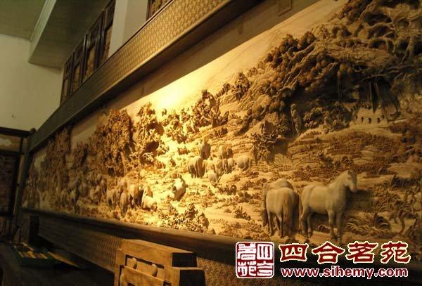 剑川木雕花瓶图片