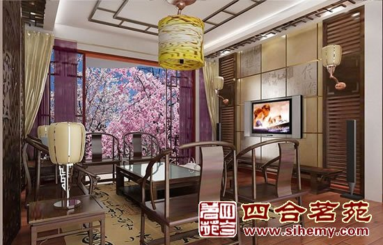 复式豪宅-新古典中式装修风格|c2000|诗二千|佛山