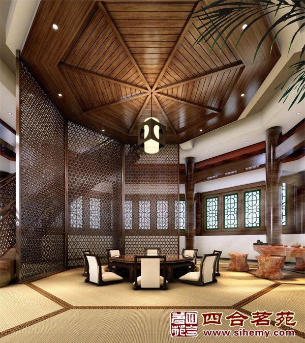 最新中式酒店设计装修   茶室